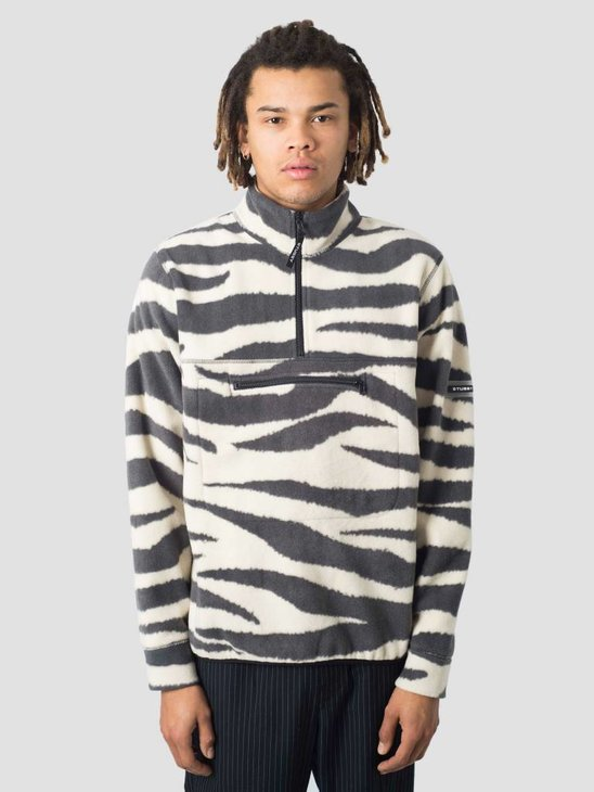 Stussy Polar Fleece Mock Neck Crew Zebra 925
