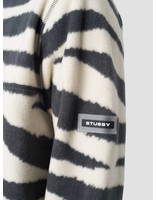 Stussy Stussy Polar Fleece Mock Neck Crew Zebra 925