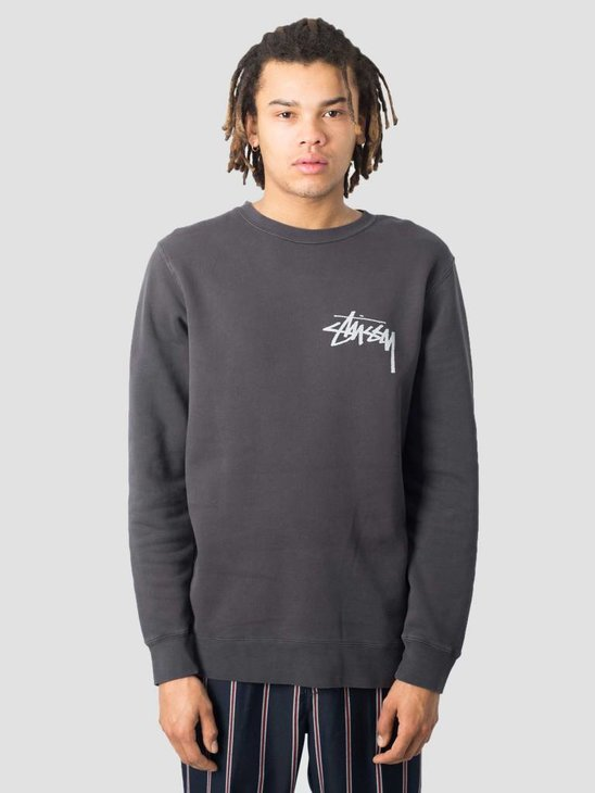 Stussy Stock Pig. Dyed Crew Black 0001