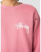 Stussy Stussy Stock Pig. Dyed Crew Raspberry 1638