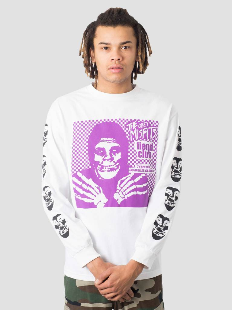 Obey Obey Misfits Fiend Club Hallow Basic Longsleeve White 164902055