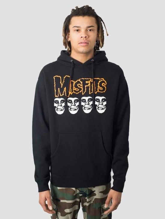 Obey Misfits Fiend Skulls Basic Hoodie Black 111732053