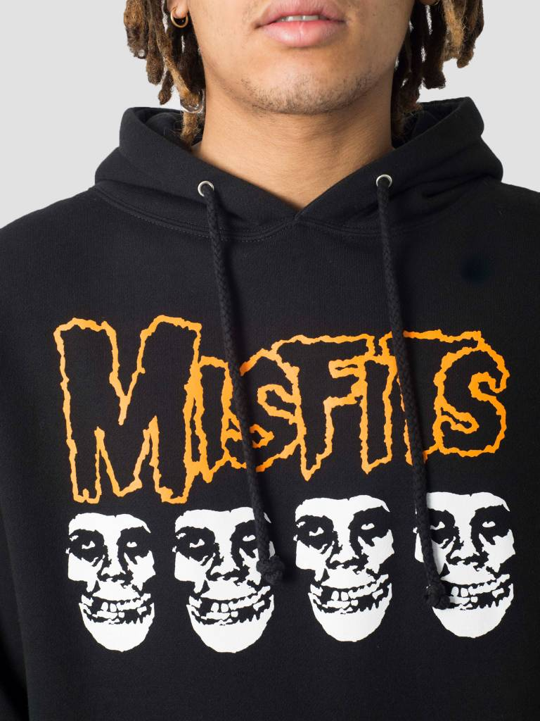 Obey Obey Misfits Fiend Skulls Basic Hoodie Black 111732053