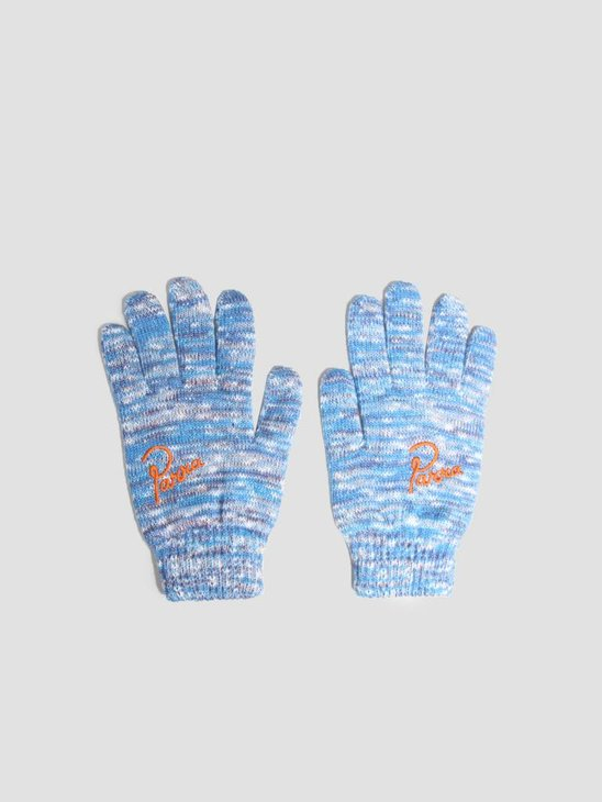 By Parra Knitted Gloves Mix Of Blue Purple and Off White 42040
