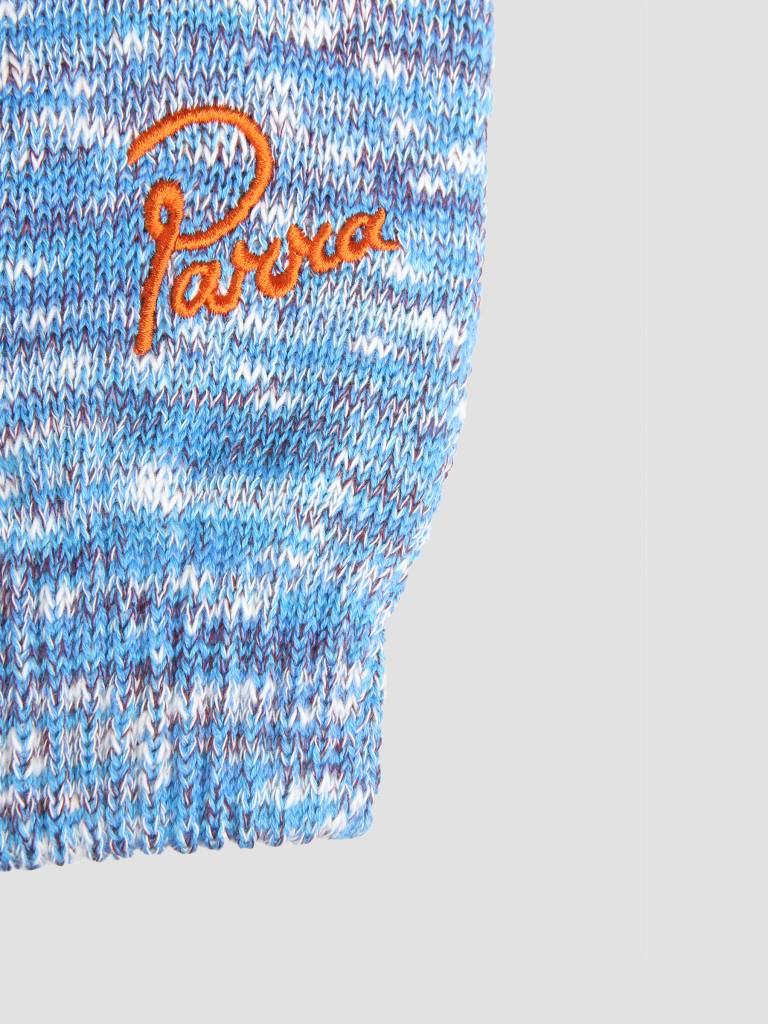 By Parra By Parra Knitted Gloves Mix Of Blue Purple and Off White 42040
