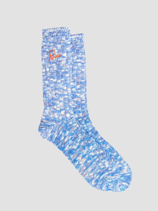 By Parra Crew Socks Mix Of Blue Purple and Off White 42030