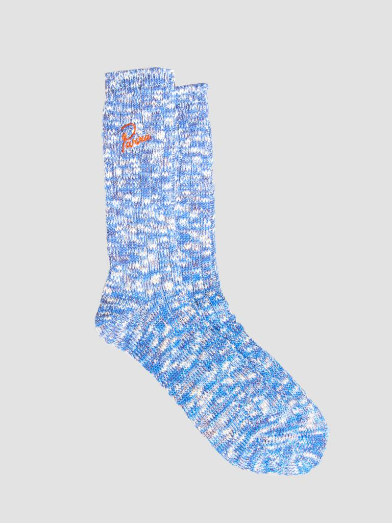 By Parra By Parra Crew Socks Mix Of Blue Purple and Off White 42030