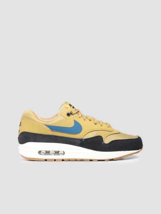 Nike Air Max 1 Shoe Golden Moss Blue Force Black Sail Ah8145-302