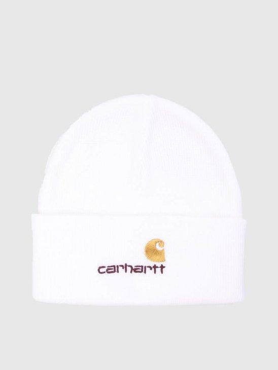 Carhartt WIP American Script Beanie White I025386-200