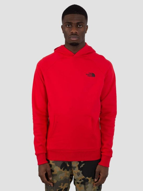 The North Face Raglan Red Box Hoodie TNF Red TNF Black