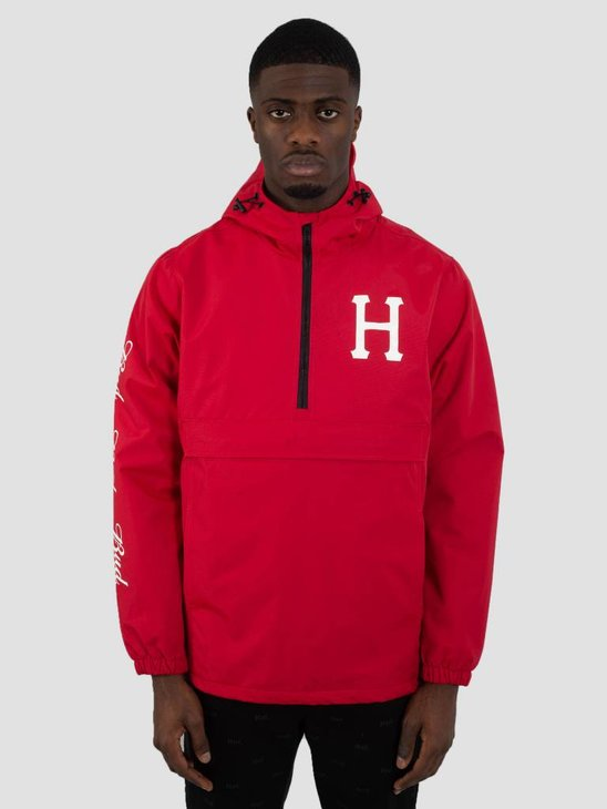 HUF Bud Label Anorak Jacket Red JK00153