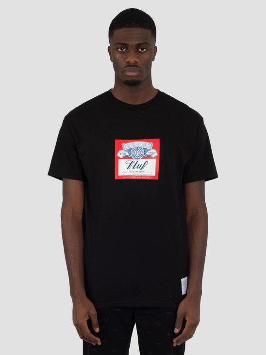 HUF Bud Label T-Shirt Black TS00780
