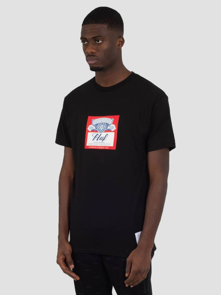 HUF HUF Bud Label T-Shirt Black TS00780