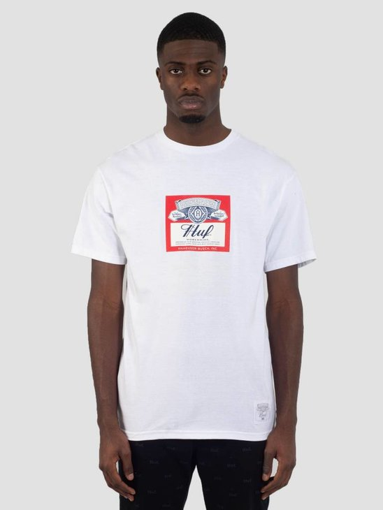 HUF Bud Label T-Shirt White TS00780