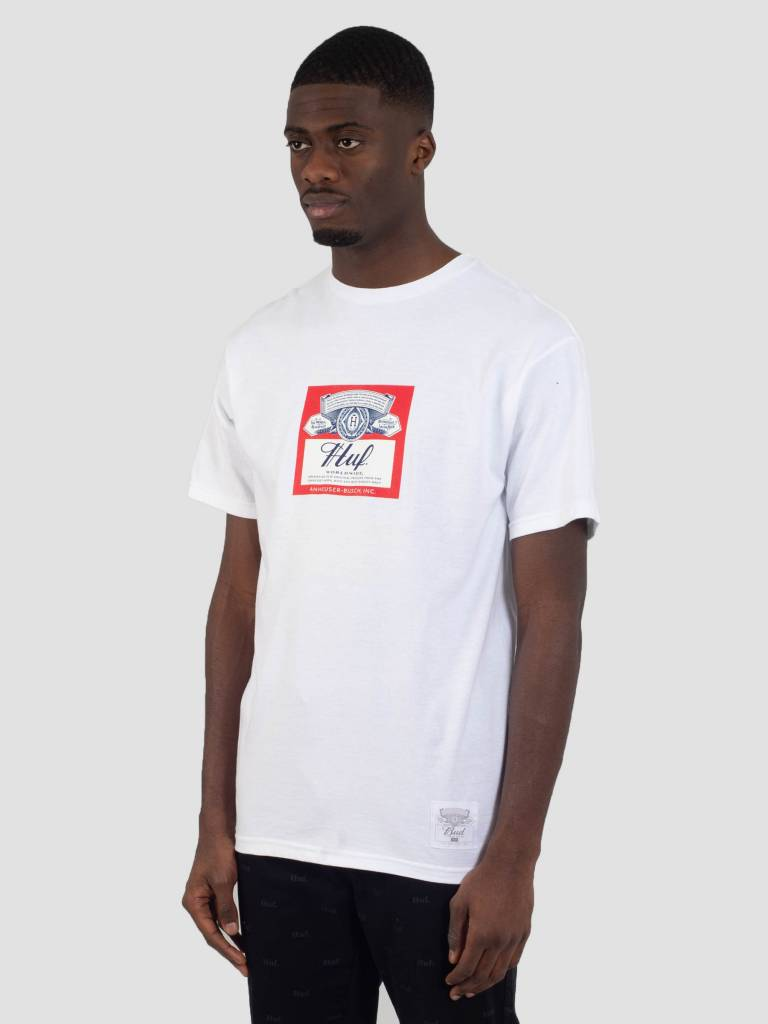 HUF HUF Bud Label T-Shirt White TS00780