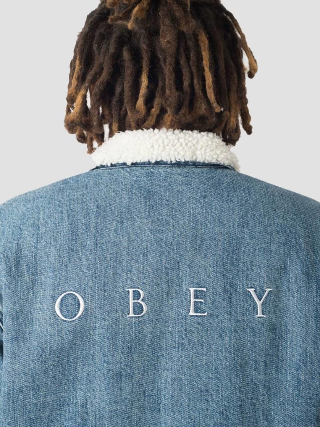 Obey Obey Division Denim Jacket Light indigo 121800356-LIN