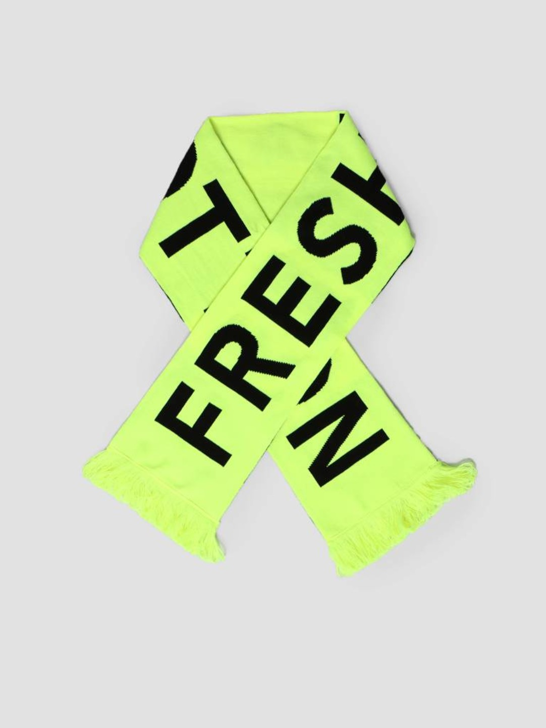 FRESHCOTTON FreshCotton Neon Black Block Football Scarf