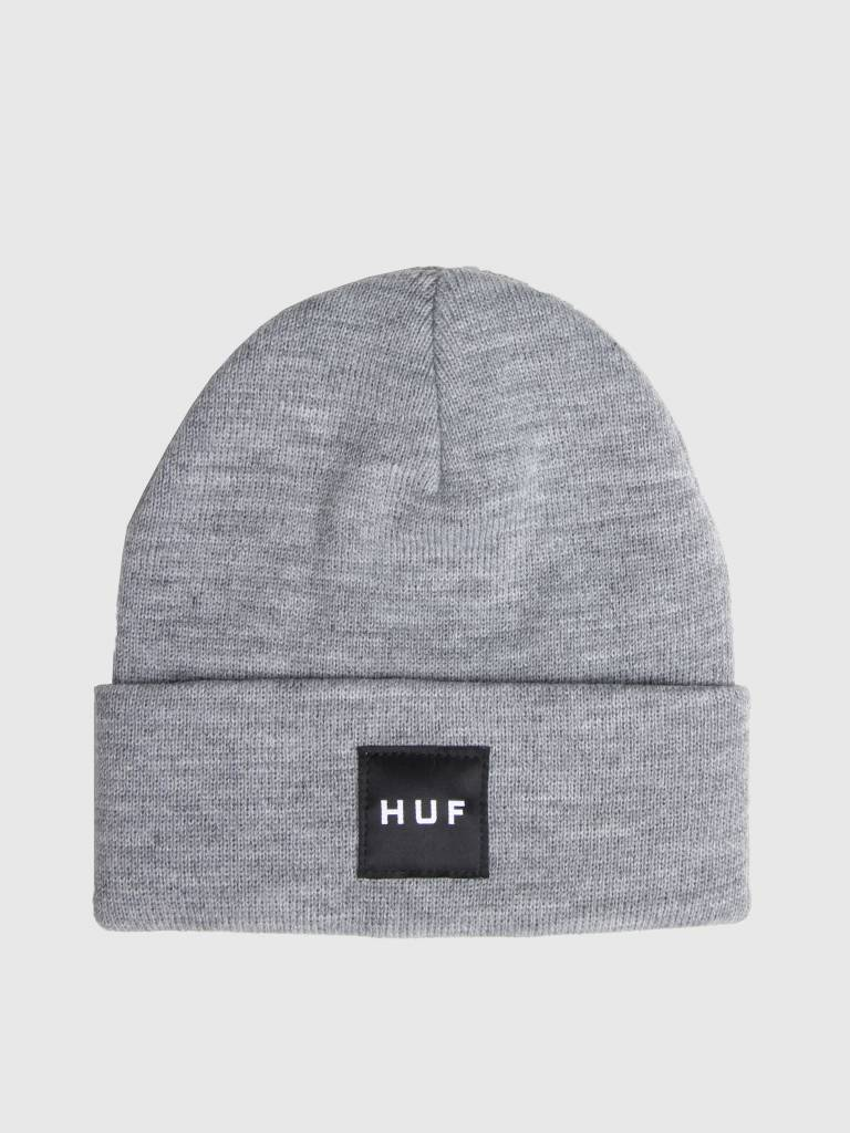 HUF Box Logo Beanie Grey Heather BN00070