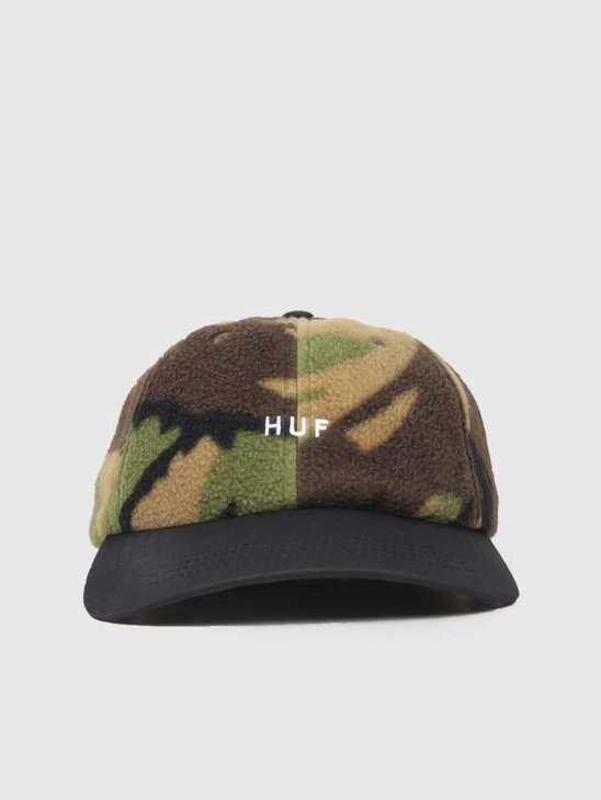 HUF Polar Fleece CV 6 Panel Hat Deep Olive HT00266