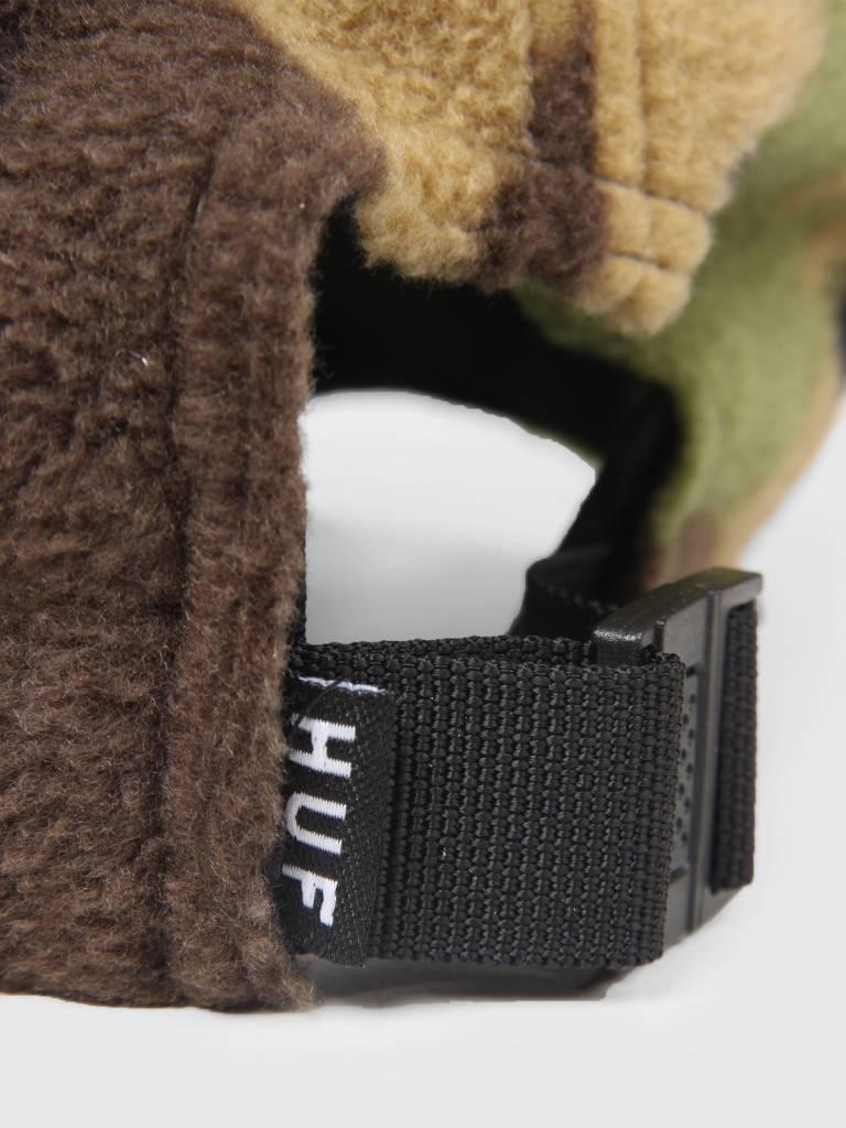 HUF HUF Polar Fleece CV 6 Panel Hat Deep Olive HT00266