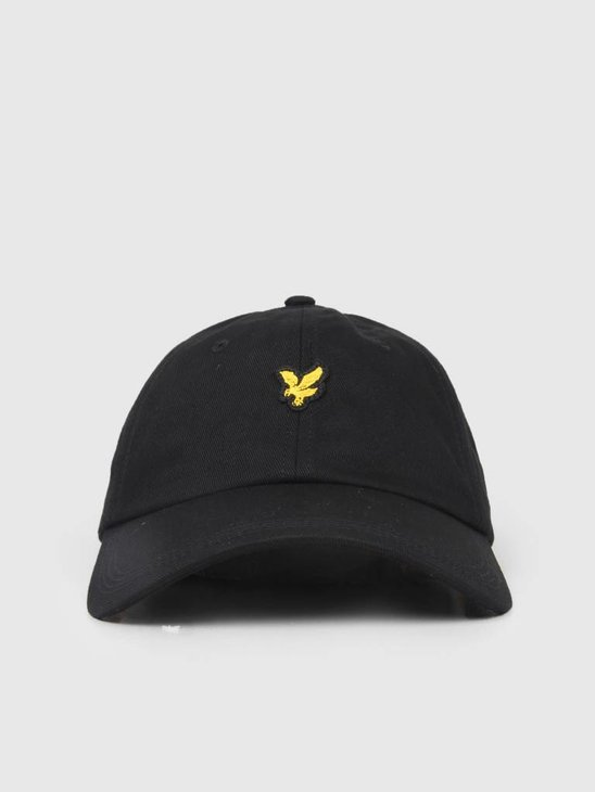Lyle and Scott Cotton Twill Baseball Cap True Black HE906A