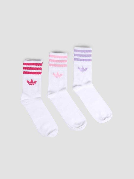 adidas Mid Cut Crew Sock Hite Purglo ED1130