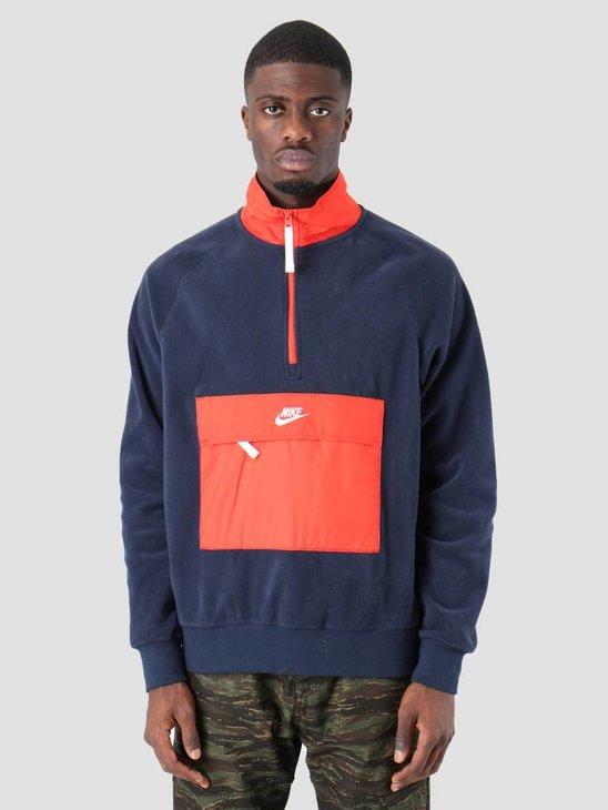 Nike NSW Sweater Obsidian Habanero RedSail 929097-451