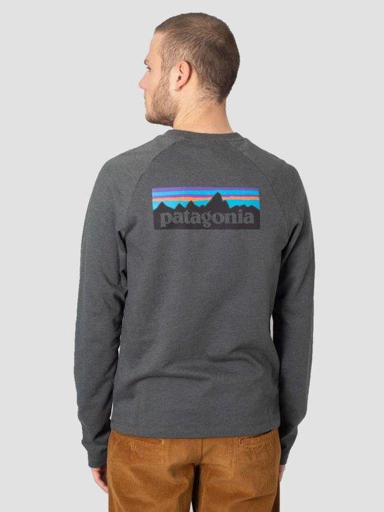 Patagonia P-6 Logo Crew Sweatshirt Forge Grey 39550