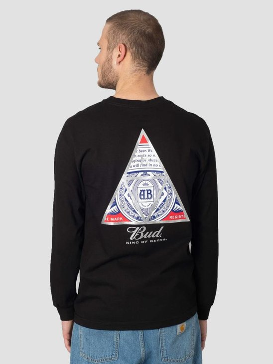 HUF Bud Triangle Longsleeve Black TS00751
