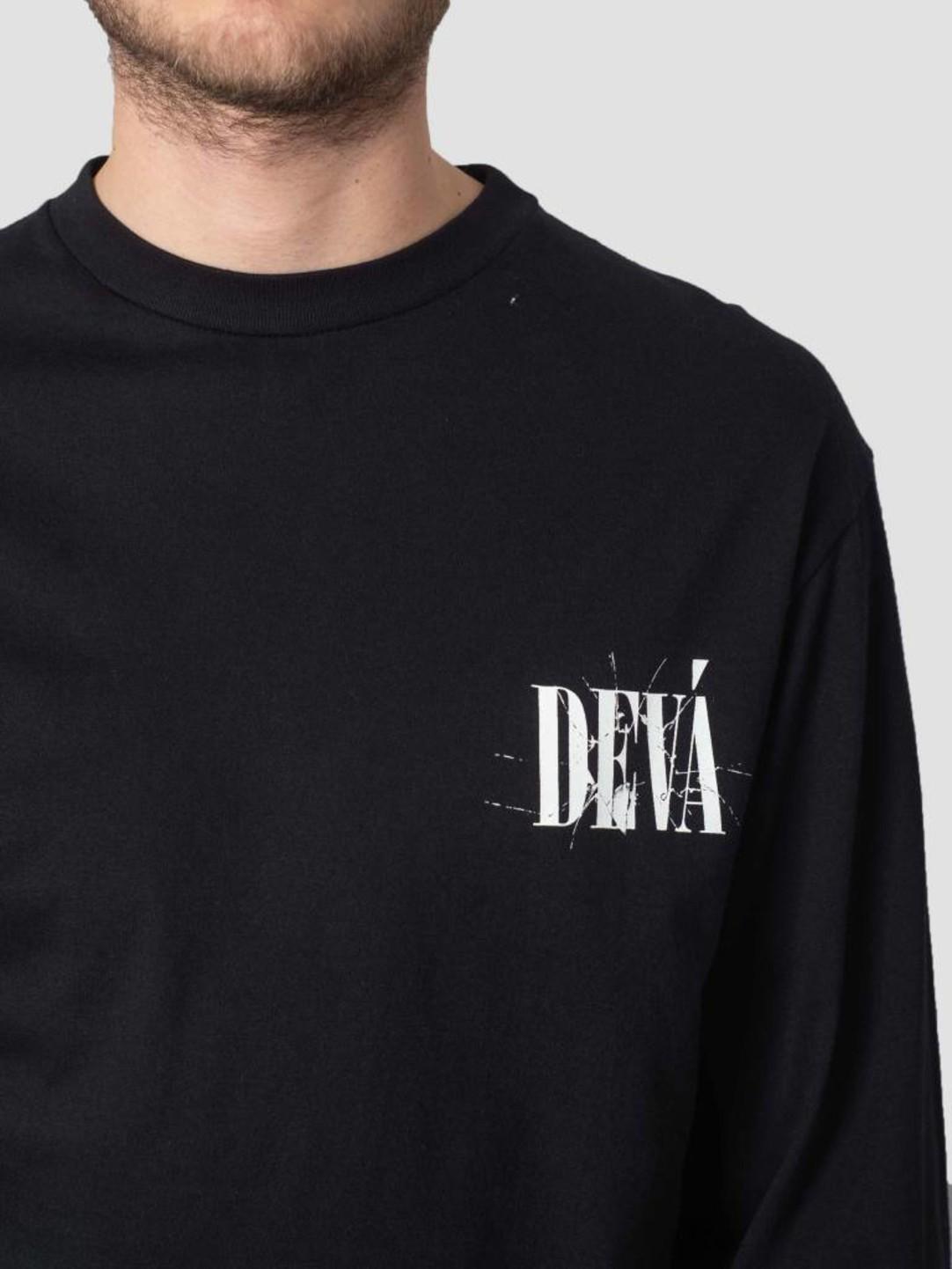 DEVA DEVA Longsleeve Cracked Black