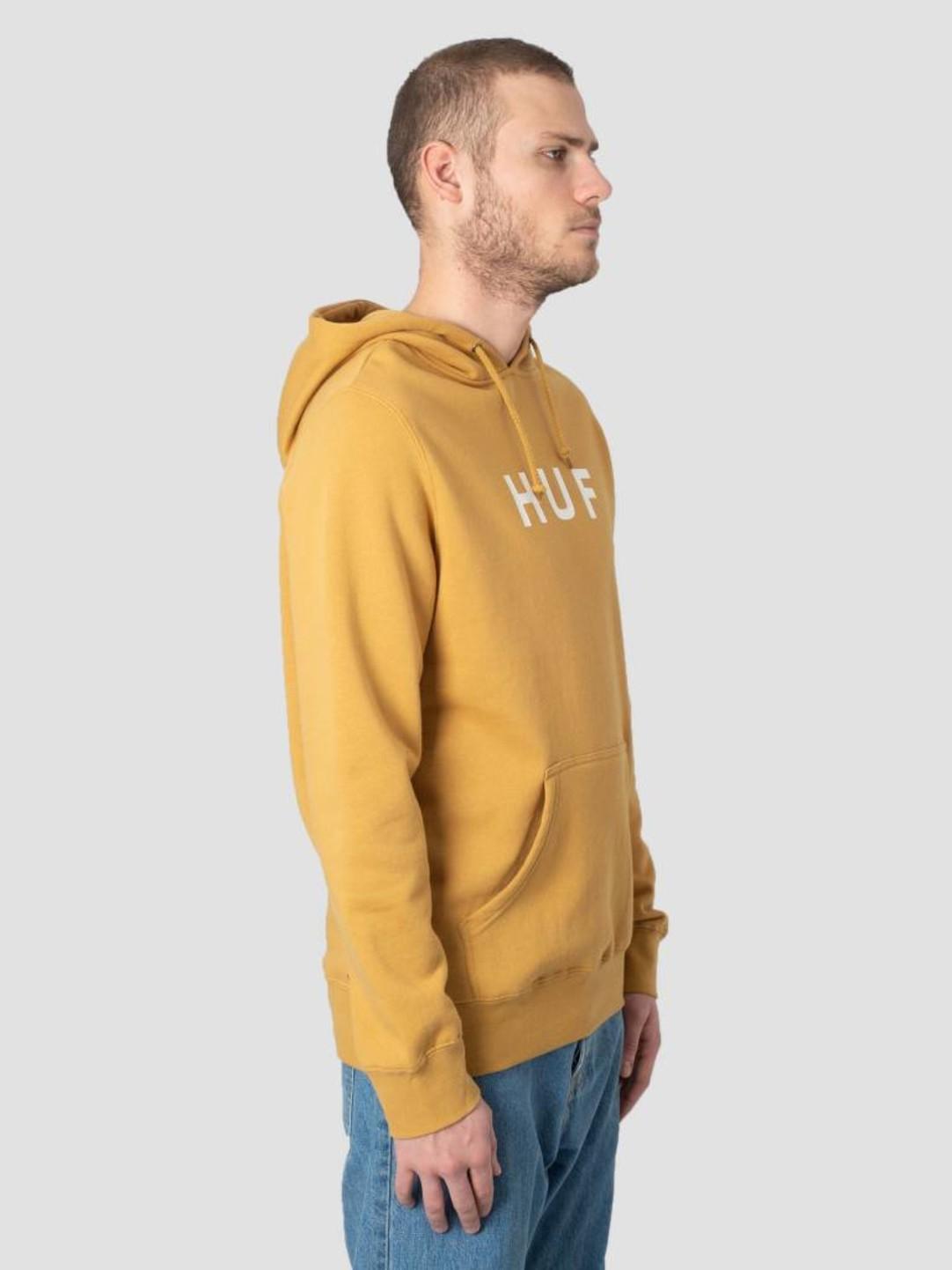 HUF HUF Essentials OG Logo Hoodie Honey Mustard PF00099