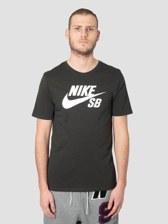Nike SB Logo T-ShirtSequoia Sequoia White 821946-356