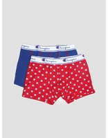 Champion Champion Boxer Cotton Mix Logo Print Navy Red 372002