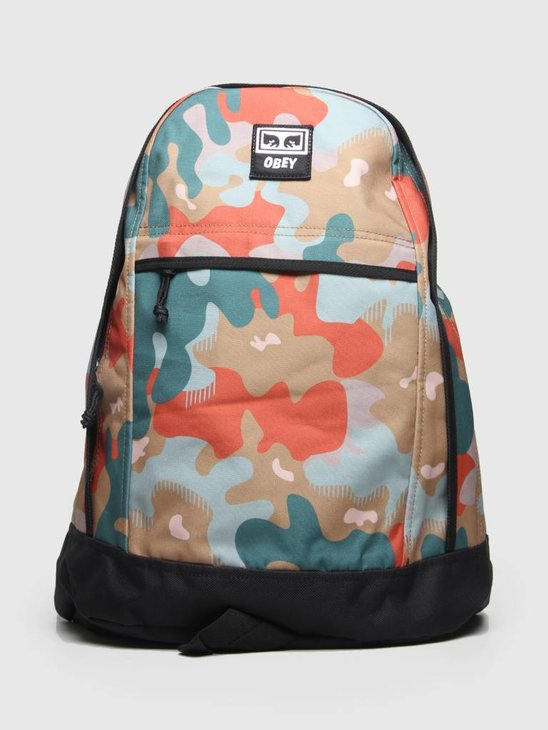 Obey Drop Out Day Backpack Drip Camo 100010099