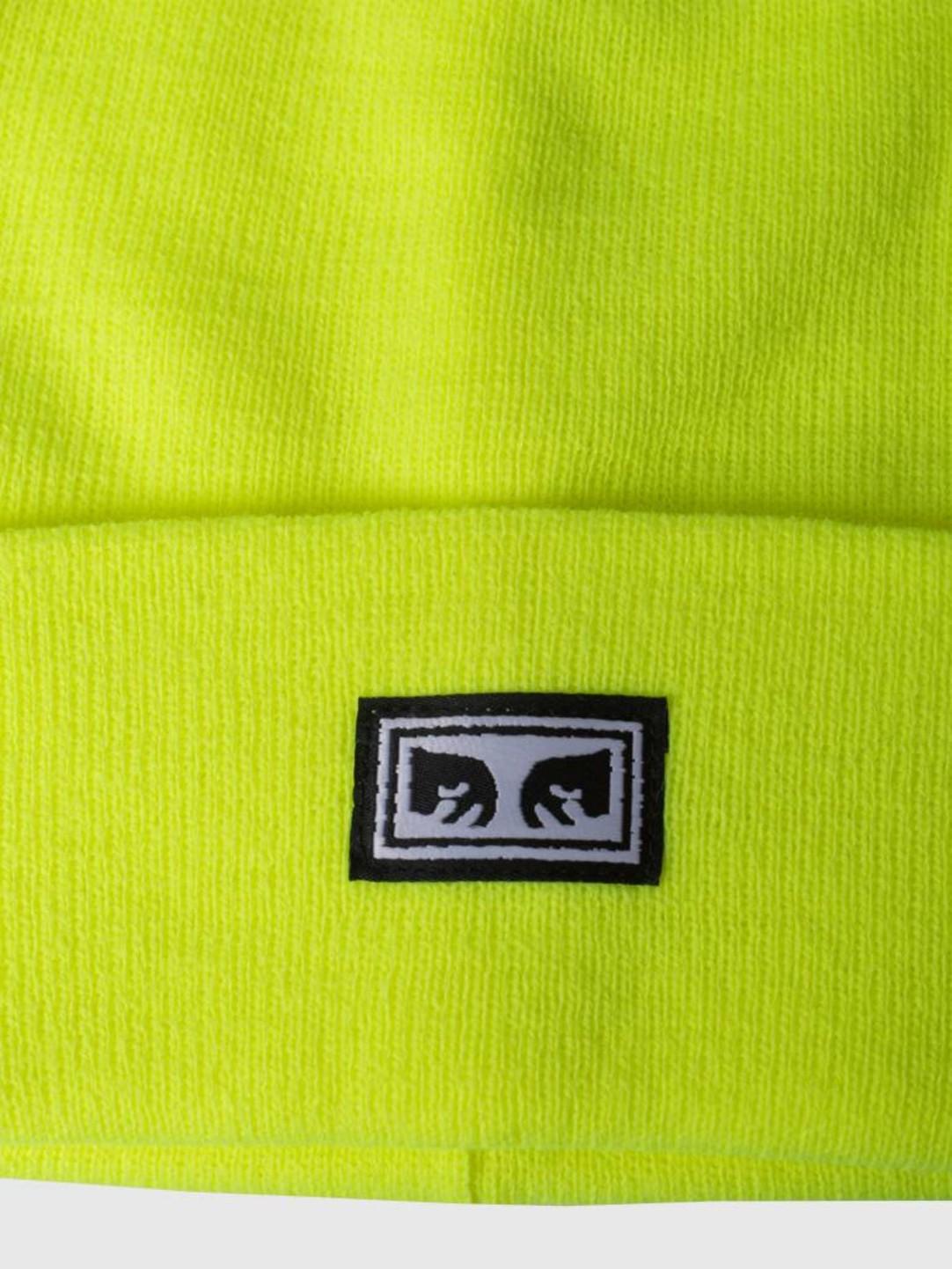Obey Obey Icon Eyes Beanie Saftey green 100030132-GRN