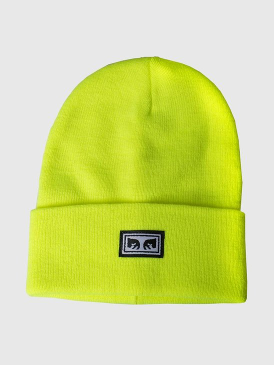 Obey Icon Eyes Beanie Saftey green 100030132-GRN