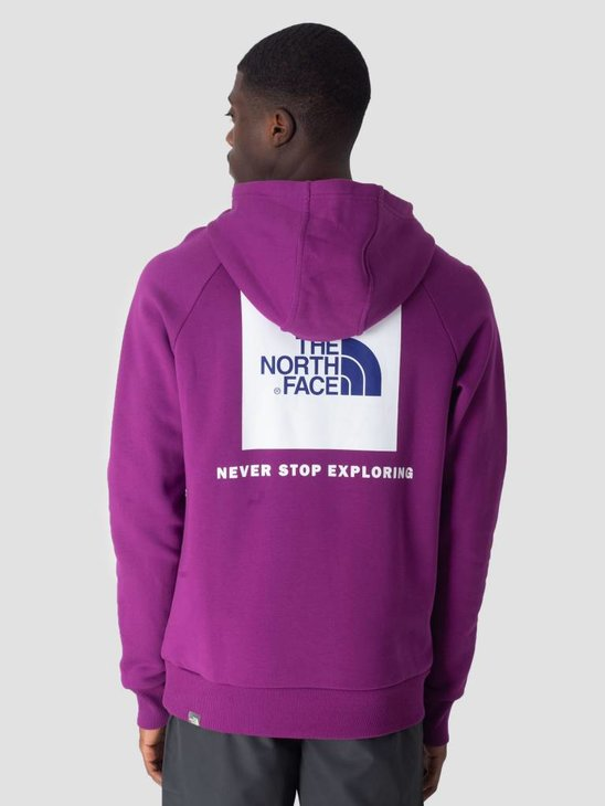 The North Face Raglan Red Box Hoodie Phlox Purple T92ZWU8NX