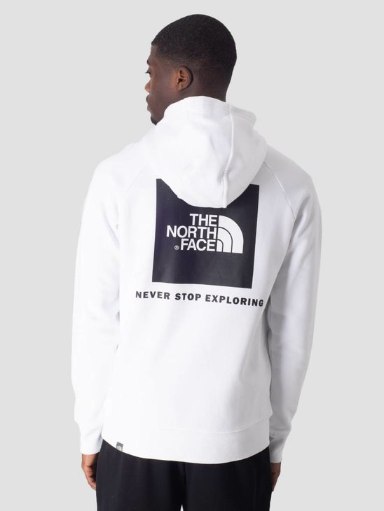 The North Face Raglan Red Box Hoodie TNF White T92ZWUFN4