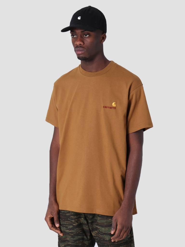 Carhartt WIP Carhartt WIP American Script T-Shirt Hamilton Brown I025711