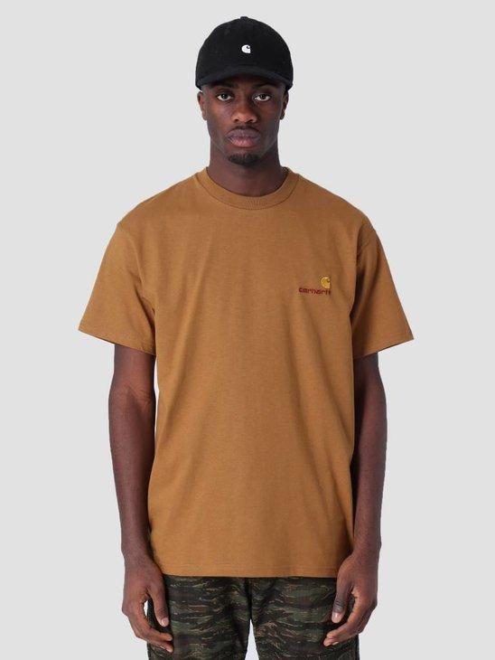 Carhartt WIP American Script T-Shirt Hamilton Brown I025711