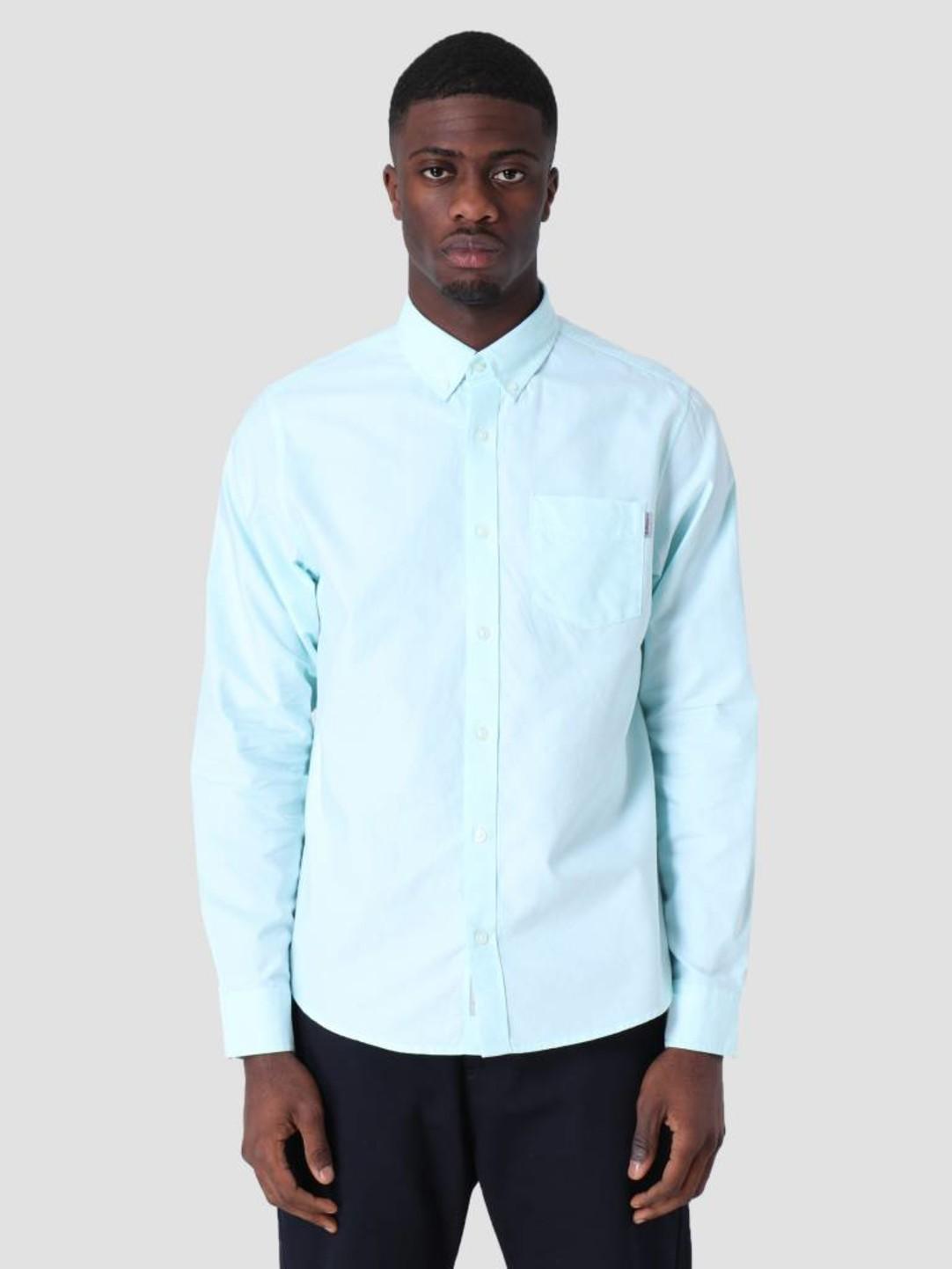 Carhartt WIP Carhartt WIP Longsleeve Button Down Pocket Shirt Light Yucca I022069