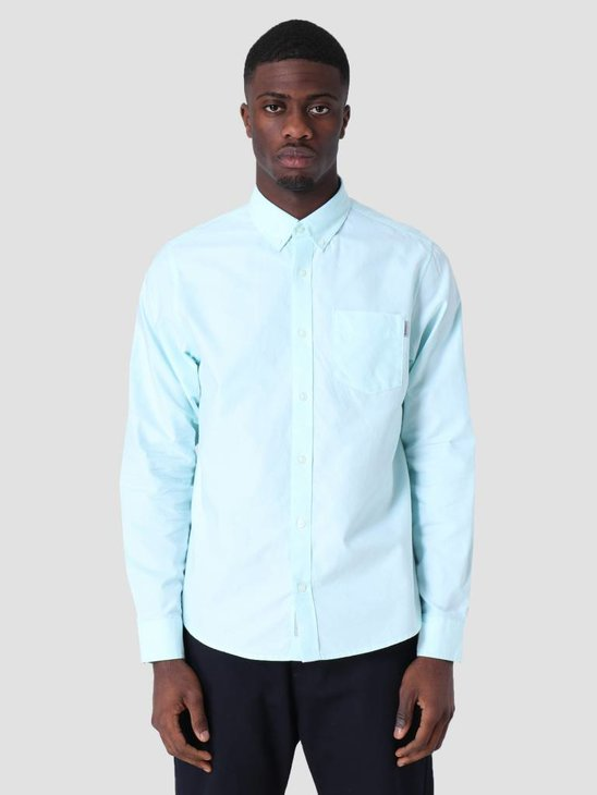 Carhartt WIP Longsleeve Button Down Pocket Shirt Light Yucca I022069