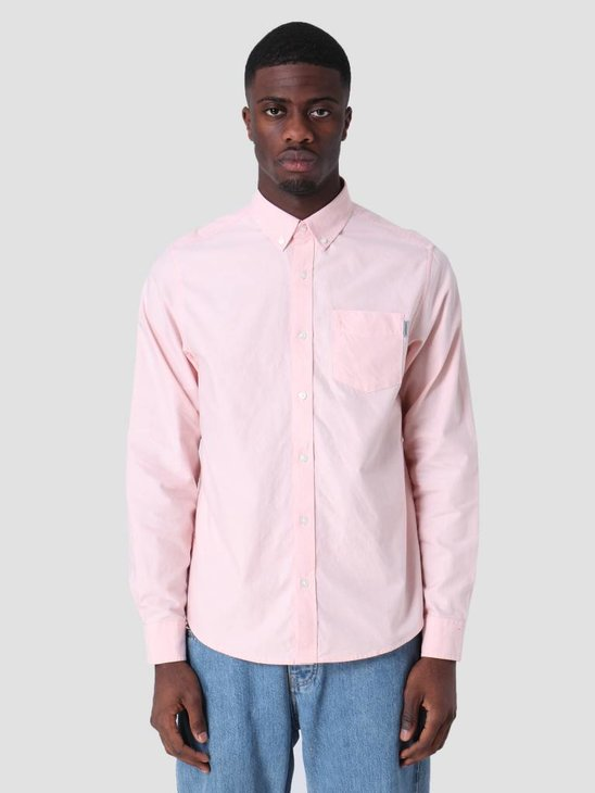 Carhartt WIP Longsleeve Button Down Pocket Shirt Peach I022069