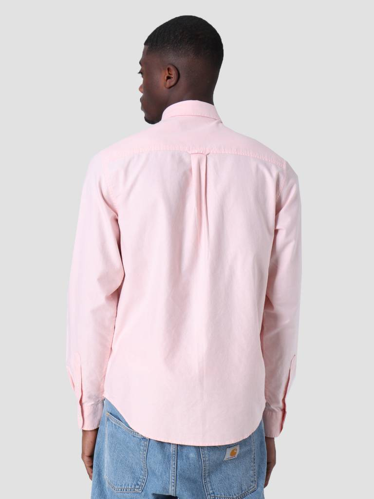 Carhartt WIP Carhartt WIP Longsleeve Button Down Pocket Shirt Peach I022069