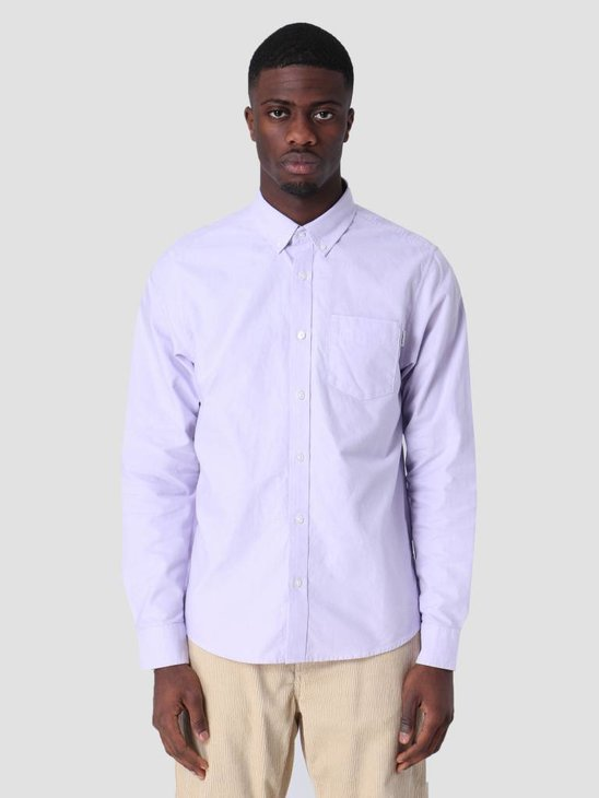 Carhartt WIP Longsleeve Button Down Pocket Shirt Soft Lavender I022069