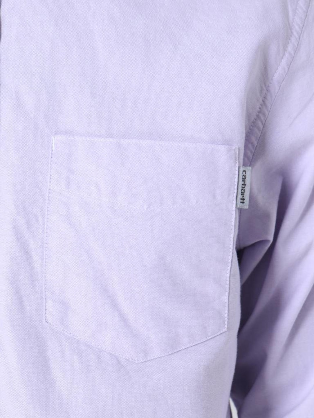 Carhartt WIP Carhartt WIP Longsleeve Button Down Pocket Shirt Soft Lavender I022069
