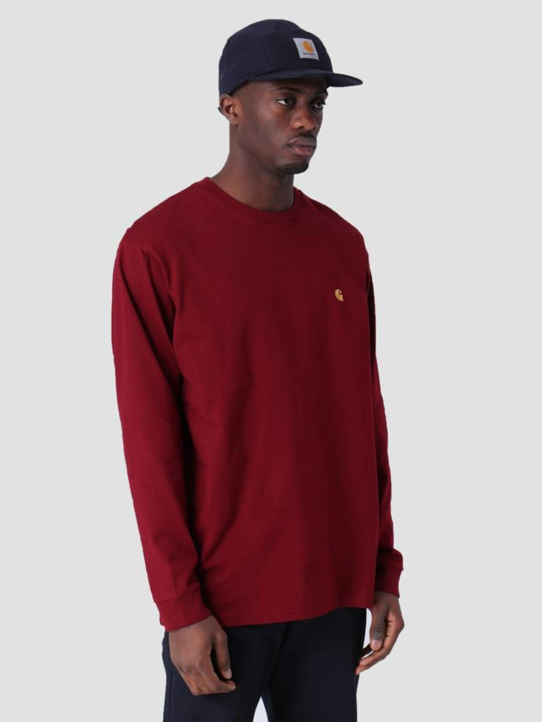 Carhartt WIP Carhartt WIP Longsleeve Chase T-Shirt Cranberry Gold I026392