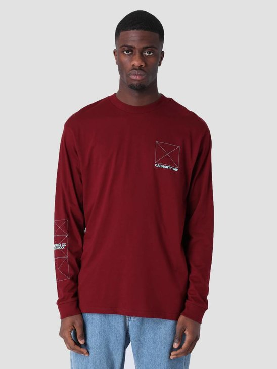 Carhartt WIP Longsleeve Dreaming T-Shirt Cranberry Light Yucca I026423