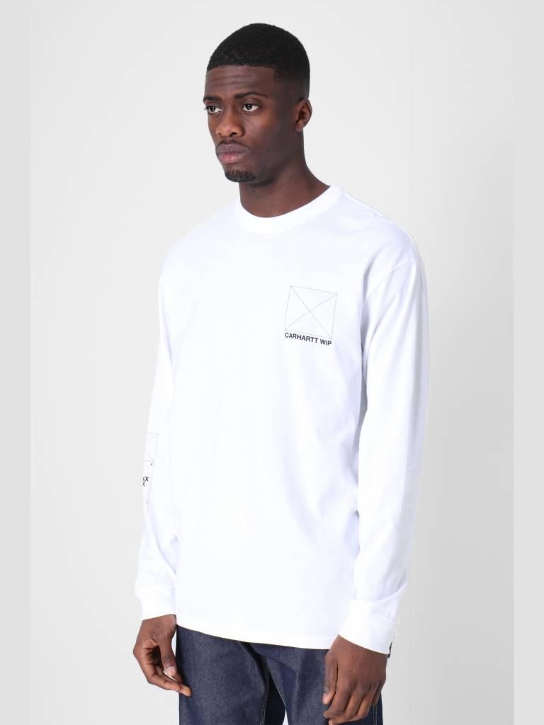 Carhartt WIP Carhartt WIP Longsleeve Dreaming T-Shirt White Black I026423