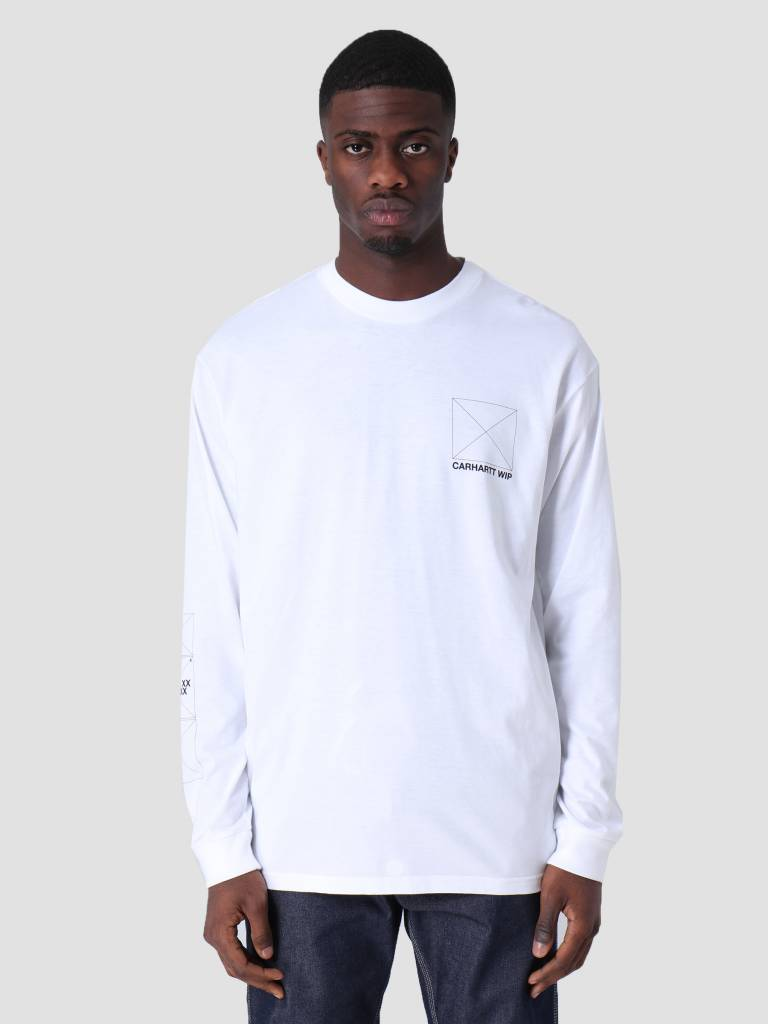 Carhartt Carhartt Longsleeve Dreaming T-Shirt White Black I026423